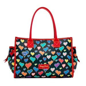Dooney & Bourke Heart Print Small Tote